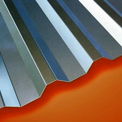 Telha trapezoidal de alumínio